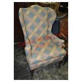 Custom Upholstered Wingback Chair
