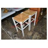 Pair of White Painted Bar Stools