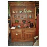 Antique Rustic Pine Hutch
