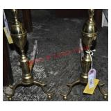 Chippendale Brass Andirons