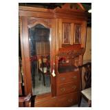 English Victorian Hall Cabinet