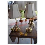 Pair of Stiffel Swing Arm Table Lamps
