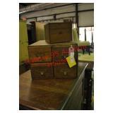 2 Antique Desk Top Files