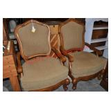 Pair Manor House Style Lounge Chairs