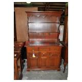 Traditional Cherry Step Back Hutch