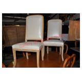 Pair of Pickled Wood Dining Chairs