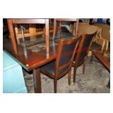 Marble Top Mahogany Dining Set 5 Pieces