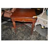Reeded Leg Occasional Table