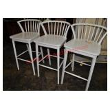 3 Outlook Painted Bar Stools
