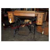 Antique Singer Sewing Table and Frame