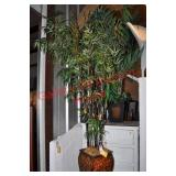 Potted Silk Palm and Bamboo