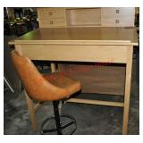 Tall Work Desk with Swivel Chair