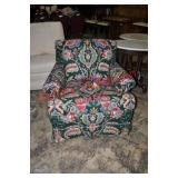 Floral Upholstered Lounge Chair