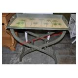 Coastal Style Painted Tray Table