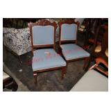 Victorian Parlor Chairs Pair