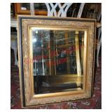 Black & Gilt Beveled Mirror