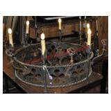 Wrought Iron Gothic Style Chandelier