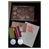 British Service Medals & Coin Set