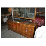 Mid-Century Modern Triple Dresser with Mirror