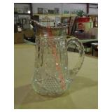 Crystal and Silver Plate Pitcher