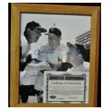 Mickey Mantle & Billy Martin Autographed Portrait