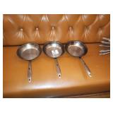 """THERMALLOY 8"""" SS FRY PANS"""