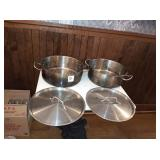 HEAVY DUTY SS INDUCTION READY POTS WITH LIDS