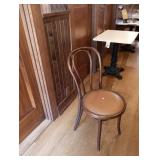 HAIRPIN CHAIRS IN WALNUT & NAUGASOFT SADDLE COLOR