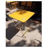 FERMOB 24 X 24 OUTDOOR FOLDING TABLES HONEY YELLOW