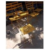 FERMOB OUTDOOR FOLDING CHAIRS HONEY YELLOW