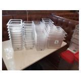 LOT OF 64 PLASTIC BINS