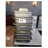 LOT OF 13 SS PANS WITH COVERS