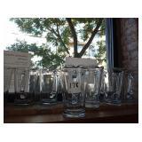 LOT OF 12 GLASS PITCHERS