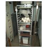 PAN RACK WITH CONTENTS