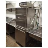 NOBLE HIGH TEMP DISHWASHER WITH 2 SS DRAINBOARDS