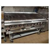 APW 6 FT GAS CHAR GRILL WITH STAND