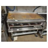 VOLLRATH 4 FT GAS FLAT GRILL WITH STAND