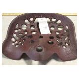 BROWN IMPLEMENT SEAT (GOOD), 15 1/2""