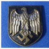 GERMAN NAZI AFRICAN KORPS PITH HELMETS PLAQUES