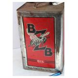 BZB 5 GALLON TIN OIL CAN - LINSEED OIL