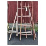 2 WOODEN LADDERS - USED CONDITION