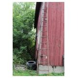 14 1/2 FT. WOODEN LADDER - GOOD CONDITION