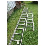 2 ALUMINUM LADDERS12 FT. AND 24 FT.