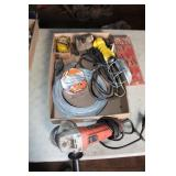AC TOOL RACK, GRINDER, TROUBLE LIGHT, FINE WIRE