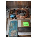 TOOL LOT, DRILL BITS, RT ANGLE DRILL, OIL CANS