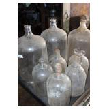3 CARBOYS & 5 ONE GALLON JUGS