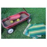 SEARS HIGH SPEED LITTLE RED WAGON & 4 CANVAS PIECE