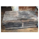 WOODEN TOOL CHEST, NO TRAY - EMPTY