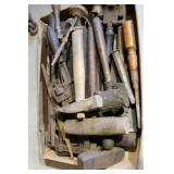 BOX OF EARLY WOOD WORKING TOOLS