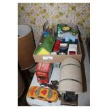 LOT OF DIECAST TOYS & LAMP